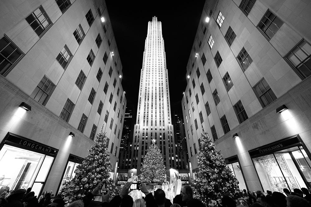 New York v objatí vianoc