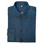 Modrá jeansová Slim Fit košeľa Alain Delon