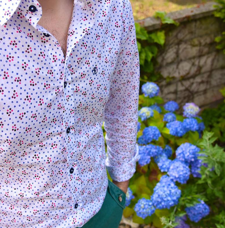 Printová košeľa s krátkymi nohavicami